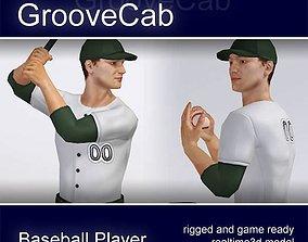 Baseball Player Male rigged 3D asset