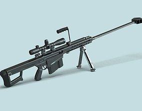 3D Barrett M82 Sniper Rifle