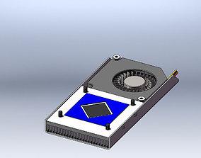 CPU Compact Cooler 3D model