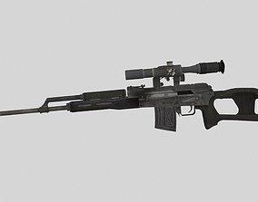 3D asset Dragunov SVD Sniper Rifle