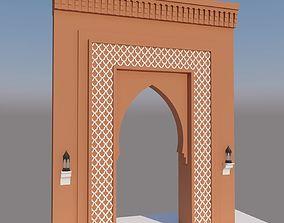 3D Traditional Moroccan Door Marrakech City