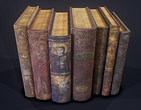 3D model Medieval Books Row 2 Design 1