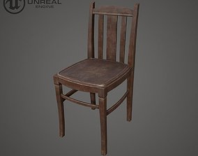 Chair Wooden 3D asset
