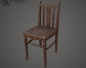 Chair Wooden 3D asset