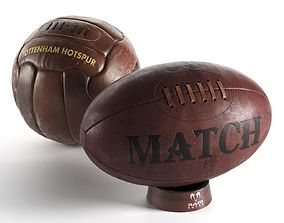3D model Football and Rugby Ball