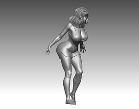 Woman female character sculptures stands poses 3D print 1