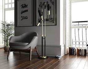 3D IKE Floorlamp