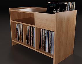 Vinyl Storage Mini PBR 3D model