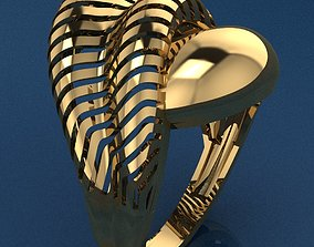 3D print model diamond Ring 3