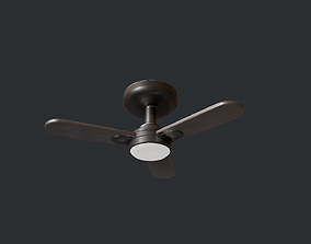 3D model game-ready PBR Ceiling Fan
