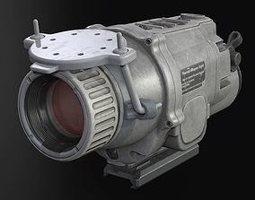 Gray Weapon Thermal Sight 3D asset