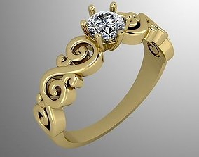 3D printable model Ring 53 brilliant-ring