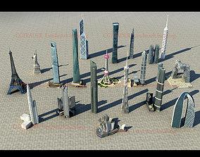 3D model Landmark building