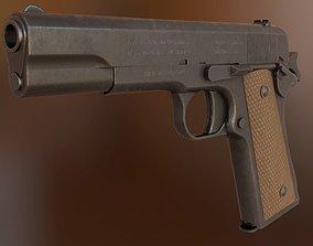 3D model realtime PBR Colt 1911