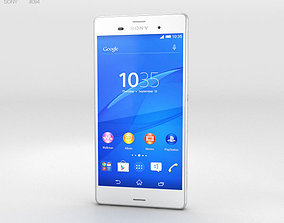 3D model Sony Xperia Z3 White