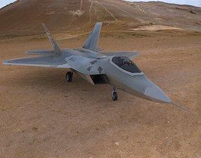 3D asset F-22 Raptor Aircraft