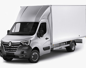 3D Renault Master Box Truck 2019