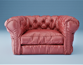 Chesterfield Sofa-501 3D
