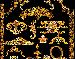 3D asset realtime Collection of classical ornaments