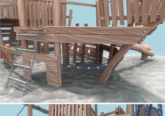 Playground Wood Ship - Final Version