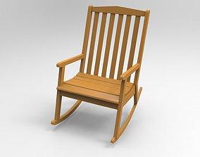 Wood Chair 3D print model