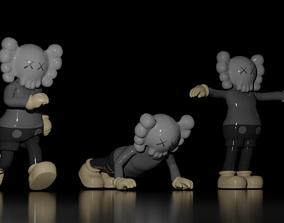 rigged KAWS Companion - Kaws Figure 3D Model - Basic