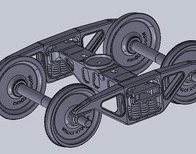 3D model Diamond bogie frame