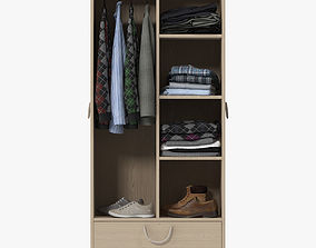 Wardrobe with Clothes 3D model