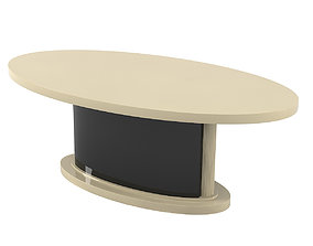 3D model Oval dining table modern contemporary