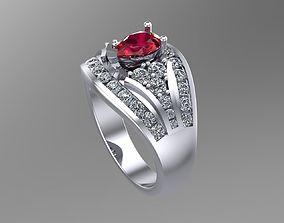 3D printable model Diamond Pear gold rings NN093