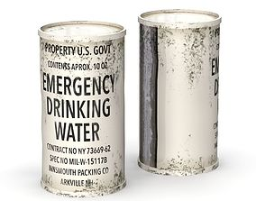 Emergency Water Can 3D model
