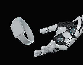 3D model hand anatomy mechanical 01 pose