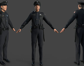 POLICE OFFICER black 3D