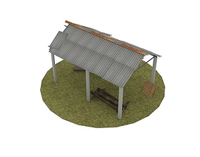Abandoned warehouse 3D model