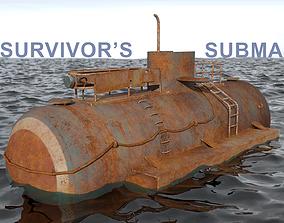 dirty Submarine 3D model