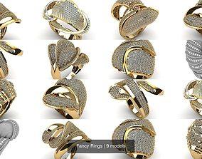 3D model Fancy Rings