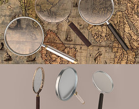 3D asset magnifying glass