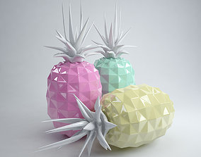 3D model Ceramic pineapples