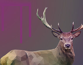 3D model animated Low poly Deer