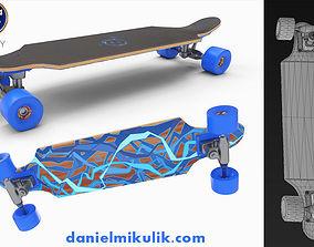 Long Board PBR Textures 3D asset