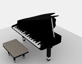 Piano 3D model musical