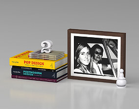 3D model Books and Photo Frame