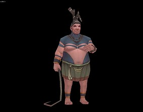 3D asset Ancient Egyptian supervisor