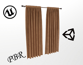 VR / AR ready Curtain 3D for game development and 2