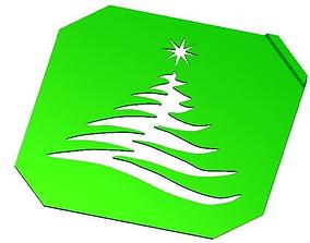 3D printable model Christmas Tree Stencil Nice