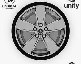 Wheel Steel-Chrome Alloy Rim Lexus 19 inch 3D asset 3