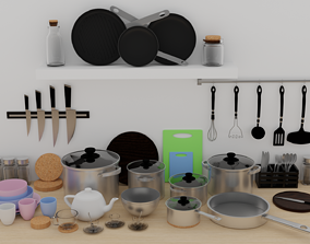 3D model Cookware Set food