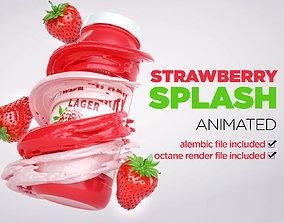 3D model Strawberry Splash