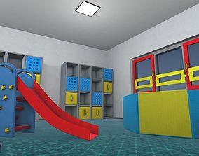 3D model Kindergarten - interior and props