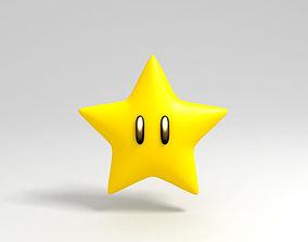 character Mario Star 3D asset